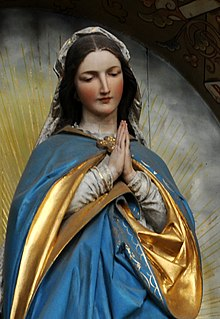 Madonna (art) artistic representation of Mary, either alone or with her child Jesus