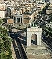Vista del Arco de la Victoria y la Junta Municipal de Moncloa desde el Faro de Moncloa.jpg