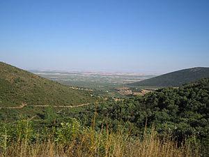 Montes de Toledo - Image: Vista hacia el sur desde puerto de Los Santos (Ciudad Real)