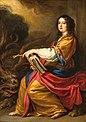 Vittoria della Rovere (Grand Duchess of Tuscany) as Santa Margherita by Justus Sustermans.jpg