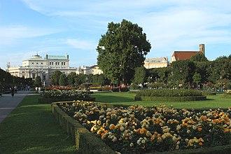 Volksgarten, Vienna - Burgtheater and Minoritenkirche