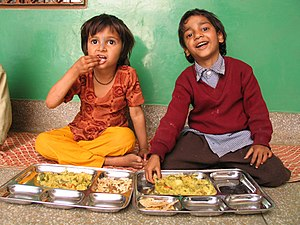 Slum children at the Food for Life School in V...