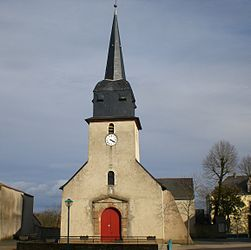The church of Saint-François-de-Sales, in La Regrippière