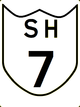 State Highway 7 shield}}