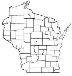 Location of Frederic, Wisconsin