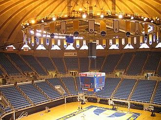 WVU Coliseum - Image: WVU Coliseum INSIDE