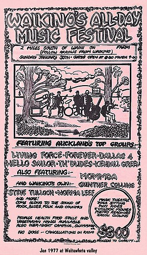 Waikino Music Festival - Image: Waikinos all day Music festival 1976