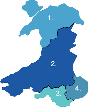 Local government in Wales - Image: Wales Police Numbered