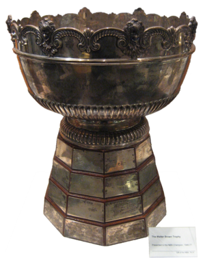 English: Walter A. Brown Trophy located at the...