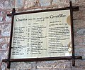War Memorial, Chacely church - geograph.org.uk - 1394613.jpg