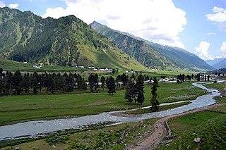 Kishtwar City in Jammu and Kashmir, India