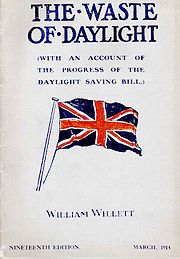 William Willett's pamphlet promoting DST went through nineteen editions.