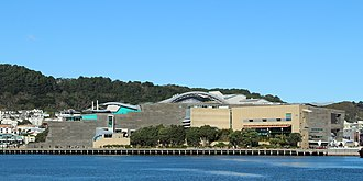 Museum of New Zealand Te Papa Tongarewa - Te Papa viewed from Wellington Harbour