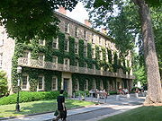 Ivy covering West College, Princeton University