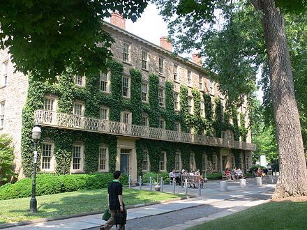 Morrison Hall, formerly known as West College, home to the undergraduate admissions office West College Princeton.jpg