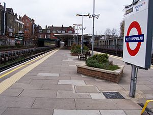West Hampstead tube station - Image: West Hampstead 180408 d.adkins