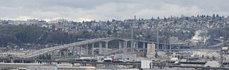West Seattle Bridge - The West Seattle Bridge from the 12th Avenue South Viewpoint on Beacon Hill.