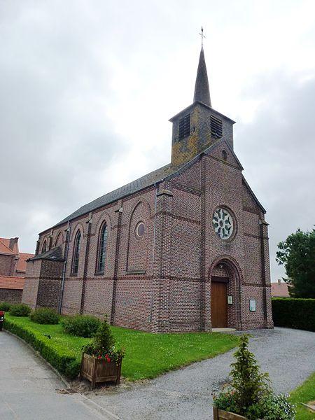 Westrehem (Pas-de-Calais, Fr) église