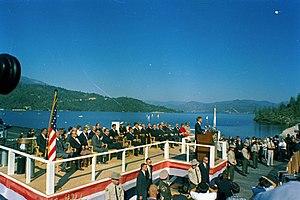 Whiskeytown Dam - President Kennedy speaks at the dam's dedication on September 28, 1963