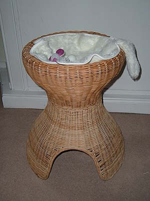 Wicker - A handmade wickerwork cat tree