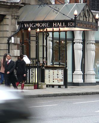 Wigmore Hall - Wigmore Hall's entrance is framed by the distinctive iron and glass canopy
