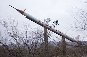 Wikieup, Arizona - Sign at entrance to Wikieup