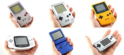 Game Boy Color (1998), Game Boy Advance (2001), Game Boy Advance SP