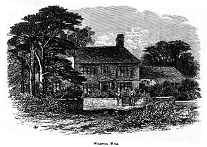 The Tenant of Wildfell Hall - Wildfell Hall in the engraving by Edmund Morison Wimperis.