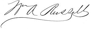 William A. Russell - Image: William Augustus Russell 1831–1899 signature