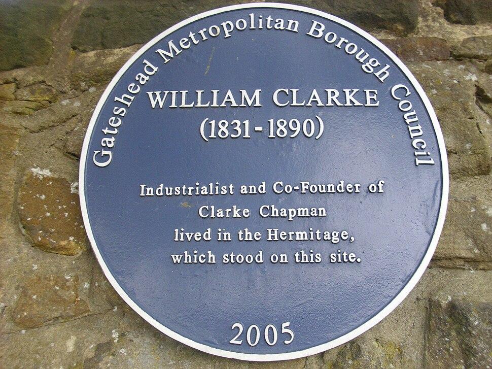 William Clarke Blue Plaque