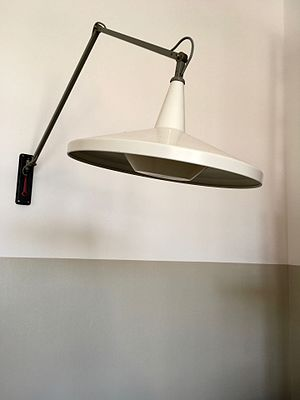 Wim Rietveld - Panama lamp, produced by Gispen, 1953