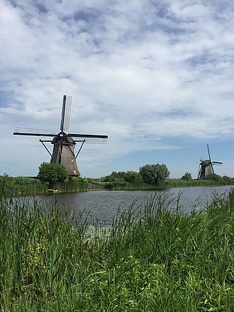 Kinderdijk - View of the windmills at Kinderdijk
