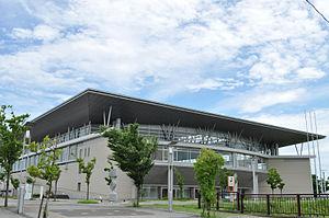 Kasukabe-shi synthesis gymnasium wing hat Kasukabe