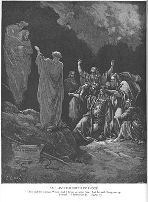 Saul - Saul and the Witch of Endor by Gustave Dore.