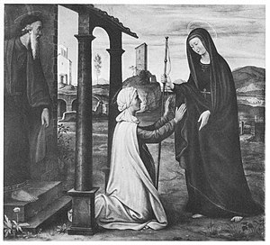 Friedrich von Olivier - The Visitation of Mary; one of the works lost in the Glaspalast fire.
