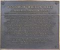 Woodrow Wilson Hall, West Long Branch, NJ - NHL plaque.jpg