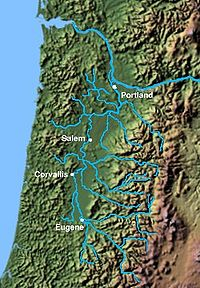 the Willamette valley watershed