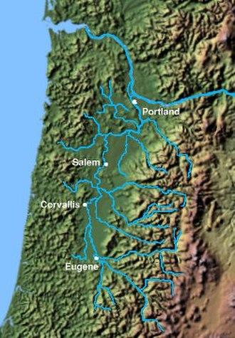 Willamette Valley - Willamette Valley basin