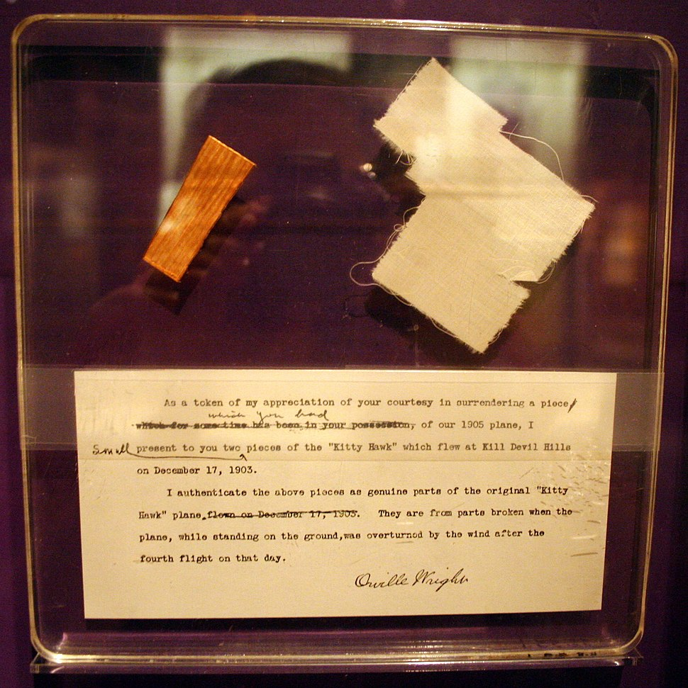 Wright flyer fragments STS-51-L