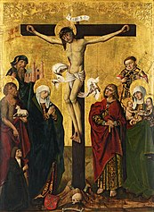 Crucifixion of Christ with saints
