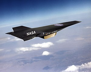 NASA X-43 - Artist's concept of X-43A with scramjet attached to the underside