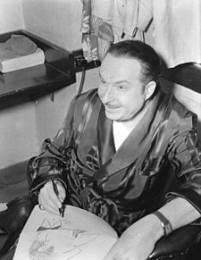 O musico, cantaire, actor y compositor catalán Xavier Cugat, en una fotografía de William P. Gottlieb.