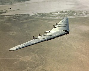 Flying wing - The Northrop YB-49 was the YB-35 bomber converted to jet power.