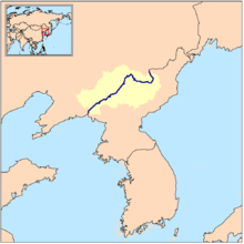 Yalu River Map Yalu River   Wikipedia Yalu River Map