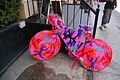 Yarn bombing of a bicycle in New York City.jpg