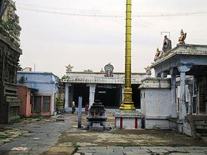 Yathothkari Perumal Temple - Shrine of Poigai Azhwar in the temple