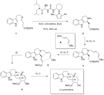 Yohimbine synthesis.png