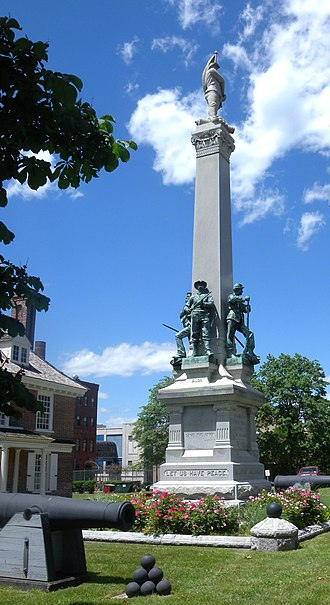 History of Westchester County - Civil War monument at Philipse Manor Hall in Getty Square, Yonkers