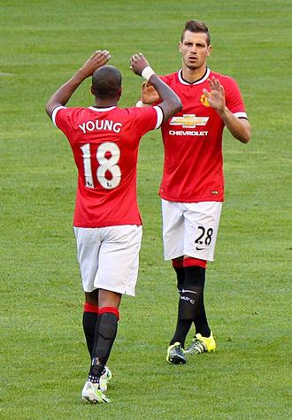 Morgan Schneiderlin - Schneiderlin (right) playing for Manchester United in 2015