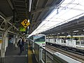 Yoyogi Station platform - JR - March 30 2016.jpg